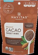 NAVITAS ORGANICS Cacao Sweet Nibs 4 oz. product image.