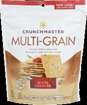 Crunchmaster Cracker Multi-Grain White Cheddar 4.5 oz product image.
