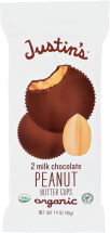 Justin's Peanut Butter Cup Milk Chocolate 2 each product image.