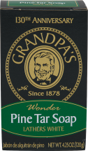 Grandpa's Wonder Bar Pine Tar Soap Lathers White 4.25 oz. product image.