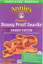 Organic Bunny Fruit Snacks  product image.