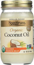 Spectrum Naturals Organic Coconut Oil 14 oz product image.