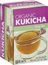 Eden Organic Kukicha 16 bags product image.