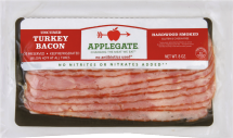 Applegate Farms Natural Uncured Turkey Bacon Antibiotic Free 8 oz. product image.