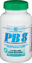 Nutrition Now PB 8 Pro-Biotic 120 capsules product image.