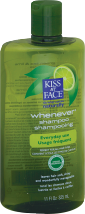 Kiss My Face Obsessively Organic Frequent Use Shampoo Whenever, Green Tea & Lime 11 fl. oz. product image.