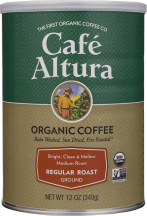 Café Altura Organic Ground Coffee Regular Roast 12 oz. product image.