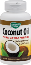 Natures Way Coconut oil 120 SG product image.