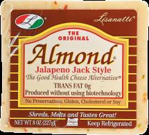 Lisanatti Good Health Cheese Alternative Almond Jalapeño Jack Style 8 oz. product image.