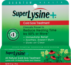 Quantum Health Super Lysine + Cold Sore Treatment 0.75 oz. product image.