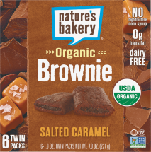 Natures Bakery BROWNIE SLT CRML ORG 6PK 7.8 OZ  product image.