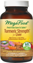 Megafood Turmeric Strength for Liver 60 product image.