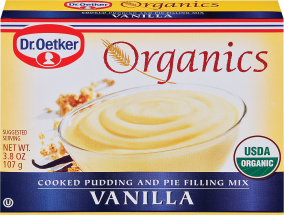 Dr. Oetker Organic Cooked Pudding & Pie Filling Mix Vanilla 3.8 oz. product image.