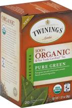 Twining Tea TEA GRN PURE ORG 20 BG  product image.