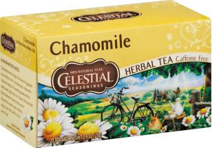 Celestial Seasonings Caffeine Free ChamomileTea 20 bags product image.
