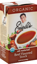 Emeril's Beef Stock All Natural & Fat Free 32 oz. product image.