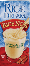 Imagine or Westsoy Rice Dream Rice Nog or Chocolate Peppermint Stick Drinks 32 fl. oz. product image.