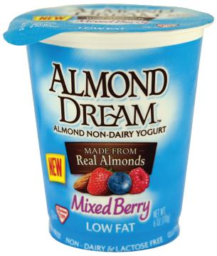 Almond Dream Mixed Berry Almond Yogurt GF 6 oz product image.