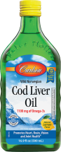 Carlson Cod Liver Oil In Lemon Flavor 500 ml product image.
