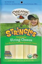 Organic Mozzarella Stringles product image.