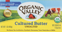 Organic Valley Organic Sweet Cream Butter 16 oz. product image.