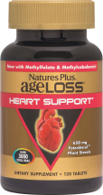Nature's Plus Ageloss Heart Support 120 product image.