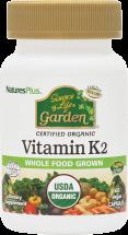 Nature's Plus Source of Life Garden Vitamin K2 60 Veg Caps product image.