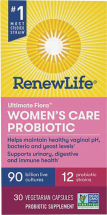 Ultimate Flora Women's Care Probiotic 90 Billion product image.