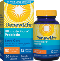 Ultimate Flora Extra Care Probiotic 50 Billion product image.