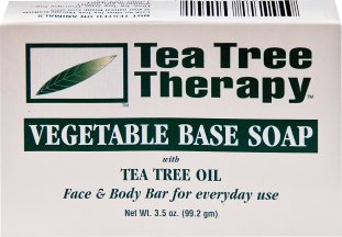 Tea Tree Therapy Vegetable Base Bar Soap With Tea Tree Oil for Face & Body 3.5 oz. product image.
