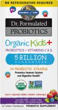 Dr. Formulated Probiotics Organic Kids+30 chewables product image.