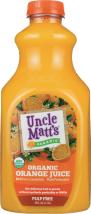 Uncle Matts Organic Organic Pulp Free Orange Juice 59 oz product image.