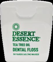 Desert Essence Tea Tree Oil Dental Floss Waxed 50 yards product image.