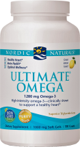 Nordic Naturals Ultimate Omega Contains 70% Pure Omega-3 Fatty Acids 180 product image.