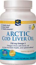 Nordic Naturals Arctic Cod Liver Oil Soft Gels 90 soft gels product image.