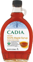 Cadia Rich Amber Organic Maple Syrup 12 oz product image.