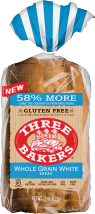 Three Bakers Gluten-Free Bread 17 oz. product image.