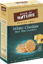 White Cheddar Rice Thin Crackers product image.