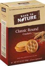 Back To Nature Classic Round Cracker 8.5 oz product image.