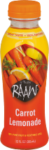 Raaw Carrot Lemonade Juice 12 fl oz product image.