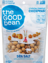 The Good Bean Chickpea Snacks 2.5 oz. product image.