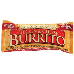 Glutenfreeda Burrito Chicken & Cheese 113 g product image.