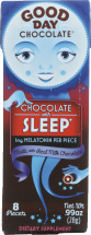 Good Day Chocolate Chocolate With Sleep Agent 8 ct product image.