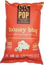 Live Love Pop Honey BBQ Popcorn 4.4 oz product image.