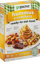 Go Picnic Hummus & Crackers Boxed Lunch 4.4 oz product image.