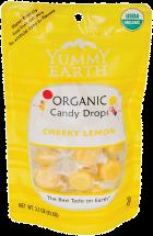 Yummy Earth Organic Candy Drops Cheeky Lemon 3.3 oz. product image.