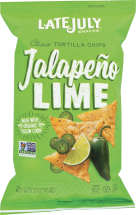Jalapeno Lime Tortilla Chips product image.