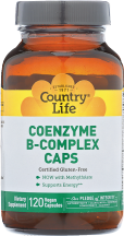 COUNTRY LIFE Coenzyme B-Complex 120 ct Supports Energy product image.