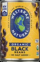 Westbrae Fat Free Organic Black Beans 15 oz product image.