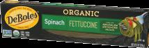 Deboles Spinach Fettuccine Pasta 8 oz product image.